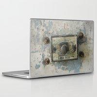 dumbo Laptop & iPad Skins featuring DUMBO Loft Door Lock-Brooklyn, New York by Rob Howell