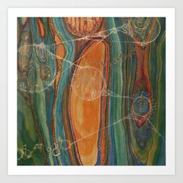 Lively Synapses (Amplified Current) Art Print