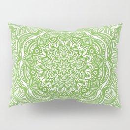 Olive Lime Green Mandala Detailed Ethnic Tribal Pattern Pillow Sham