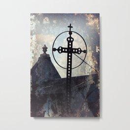 Scoured Metal Print