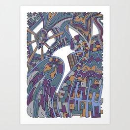 Wandering 42: color variation 2 Art Print