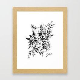 Skull Kitty Framed Art Print