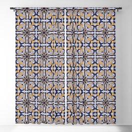Portuguese tile Blackout Curtain