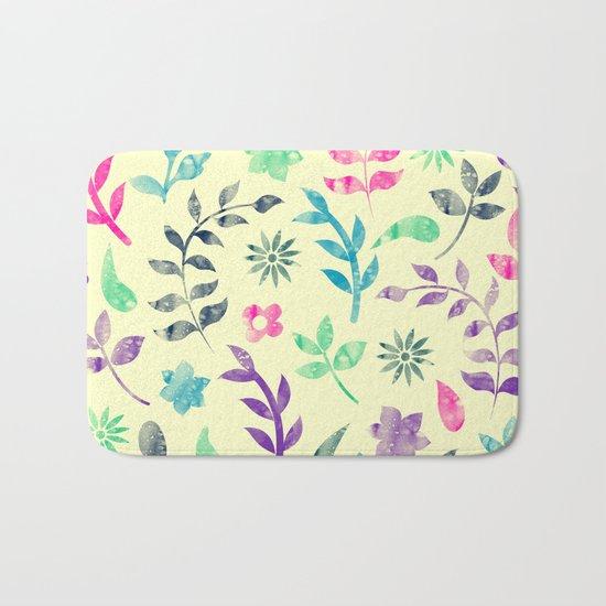 Colorful Floral Pattern V Bath Mat