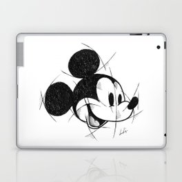 MickeyMouse Handmade Drawing, Made in pencil and ink, Tattoo Sketch, Tattoo Flash, Sketch Laptop & iPad Skin