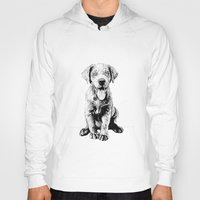 puppy Hoodies featuring Puppy by Molly Morren