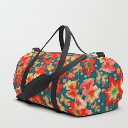 Amaryllis and Butterflies 2 Duffle Bag