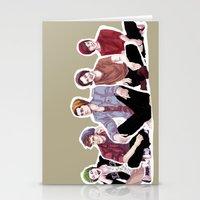 "band Stationery Cards featuring "" Beanie Band "" by Karu Kara"