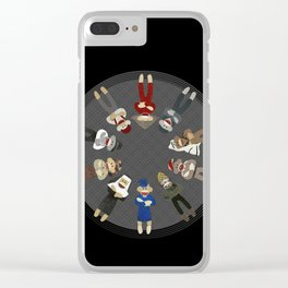 Sock Monkeys of the World Clear iPhone Case