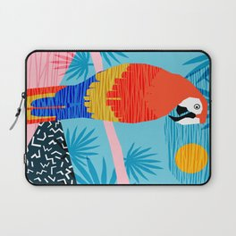 Say What - memphis throwback retro neon tropical 1980s 80s style hipster bright bird paradise art Laptop Sleeve