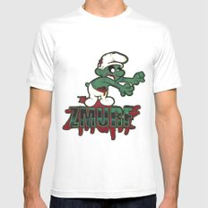 Zmurf MEDIUM White Mens Fitted Tee
