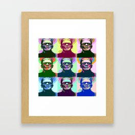 Frankenstein Pop Art Framed Art Print