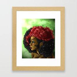 Kizzy Hair out Framed Art Print