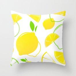 Design citruses : yellow green Throw Pillow