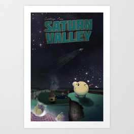 Earthbound - Greetings From Saturn Valley Art Print