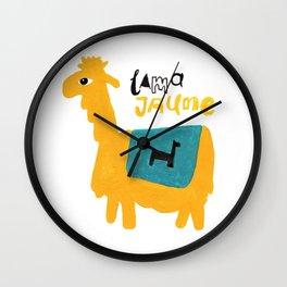 Lama Jaune Wall Clock