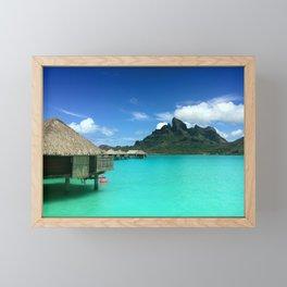 Bora Bora with Mount Otemanu Framed Mini Art Print