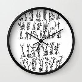 """""""Winter Saplings, Leigh Woods."""" Wall Clock"""