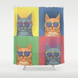 Cats Art Shower Curtain
