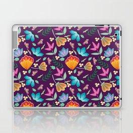 Brilliant Blooms on Purple Laptop & iPad Skin