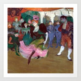 Henri de Toulouse-Lautrec Marcelle Lender Dancing the Bolero in Chilpéric Art Print