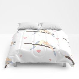 Birds In Love Comforters
