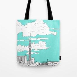 Tokyo Sky Tree Tote Bag