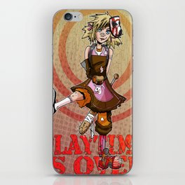 Playtime is Over iPhone Skin