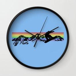 Off Piste Snowboard Wall Clock