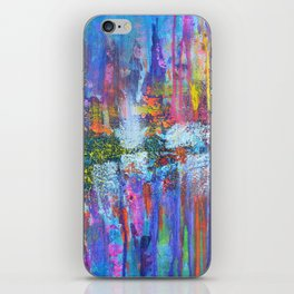 REFLECTIVE METROPOLIS - abstract expressionism prophetic art painting iPhone Skin