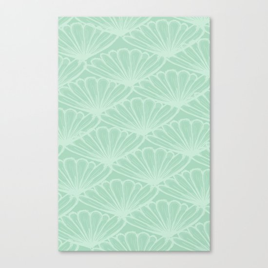 Lady in Mint Canvas Print