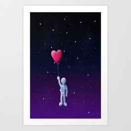 Love to the moon and back Art Print