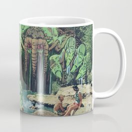 All Kids Out of the Pool - Vintage Collage Coffee Mug