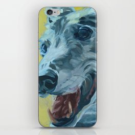 Dilly the Greyhound Portrait iPhone Skin