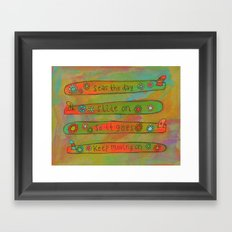 Positive Logger - Longboard Surfboards - Happy Surfers Framed Art Print