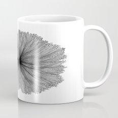 Jellyfish Flower B&W Mug