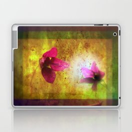 marriage of Titania; Salmon berry floral duet Shakespearean hidden pictures Laptop & iPad Skin