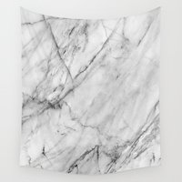 mac Wall Tapestries featuring Marble by Patterns and Textures
