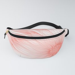 Pastel Living Coral Flower Trendy color Abstract Pink Peachy Orange Daisy Fractal Art Fanny Pack