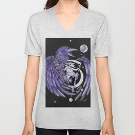 Upon Dead Angel's Wings Unisex V-Neck