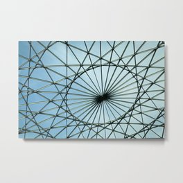 Glass roof on a big building Metal Print