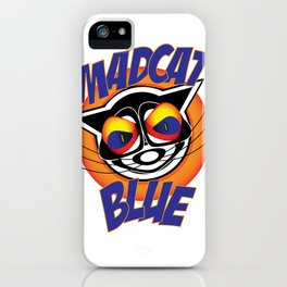 MadCat Blue iPhone Case