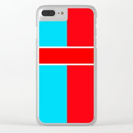 Team Colors 6..red,light blue Clear iPhone Case