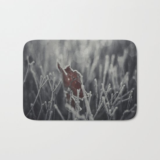 Maple Leaf Hoarfrost Bath Mat