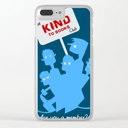 Be kind to books club Clear iPhone Case