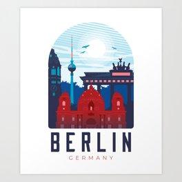 Berlin skyline - Germany Art Print