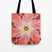 cherry blossom Tote Bags featuring Cherry Blossom by Christine baessler