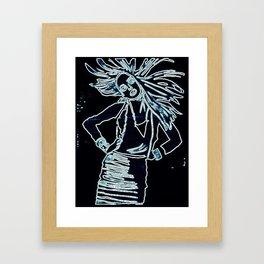 StyleGirl Blue Framed Art Print