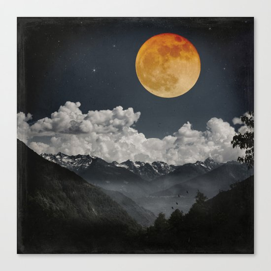 Moon Melodies Canvas Print