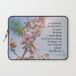Serenity Prayer Blossoms Sky Tree Laptop Sleeve